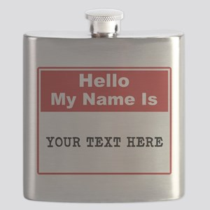 Custom Name Tag Flask