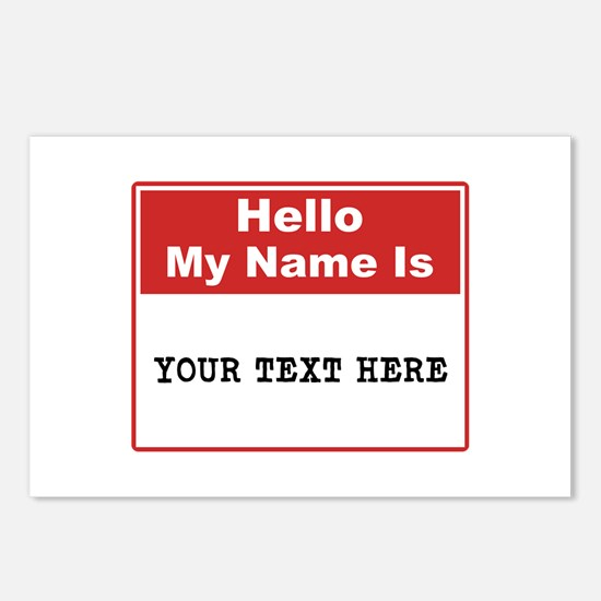 Custom Name Tag Postcards (Package of 8)