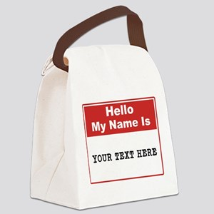 Custom Name Tag Canvas Lunch Bag
