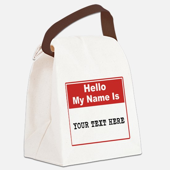 Custom Name Tag Canvas Lunch Bag
