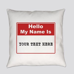 Custom Name Tag Everyday Pillow