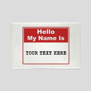 Custom Name Tag Rectangle Magnet