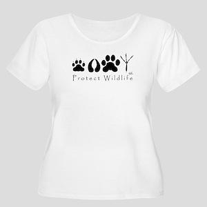 pawprints.jpg Plus Size T-Shirt