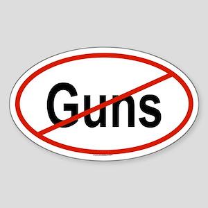 GUNS Oval Sticker