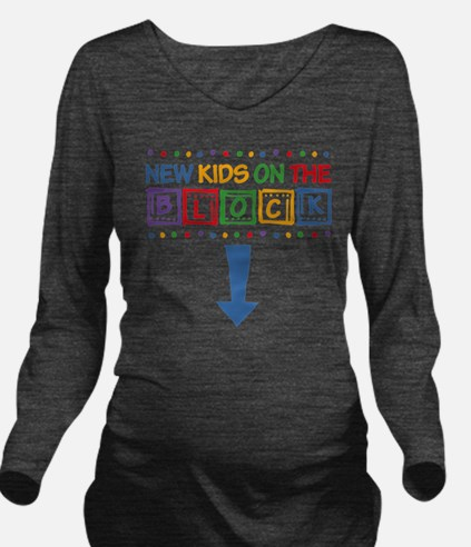 New Kids on the Bloc Long Sleeve Maternity T-Shirt