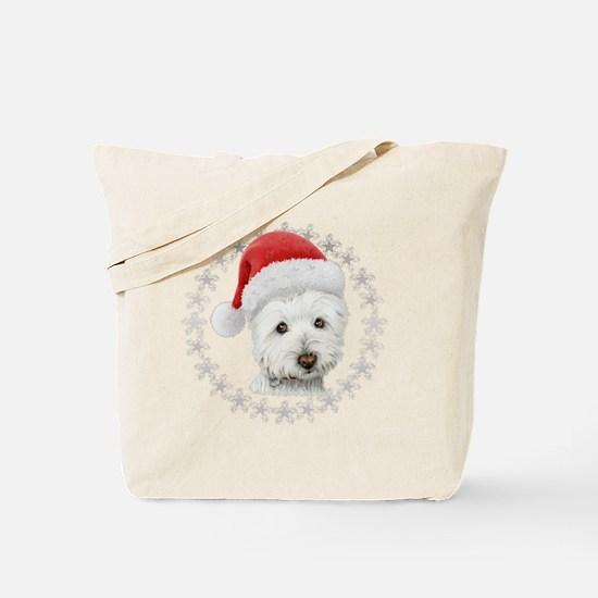 Cute Westie christmas Tote Bag