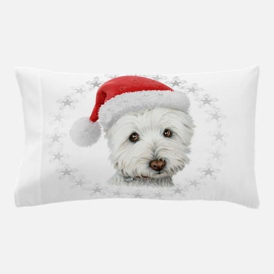 Cute Christmas Westie Dog Art Pillow Case