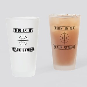 This is My Peace Symbol Drinking Glass