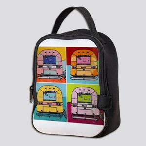Airstream Pop Art painting Neoprene Lunch Bag