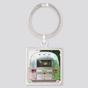 Vintage Airstream Collection Square Keychain