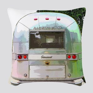 Vintage Airstream Collection Woven Throw Pillow