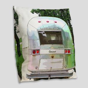 Vintage Airstream Collection Burlap Throw Pillow
