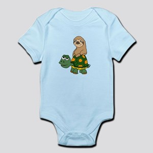 Funny Sloth on Turtle Body Suit