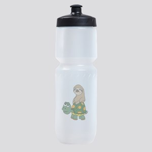 Funny Sloth on Turtle Sports Bottle