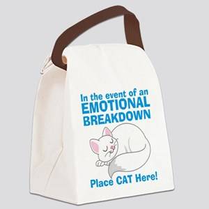 In the event of Emotional Breakdown Cat Canvas Lun