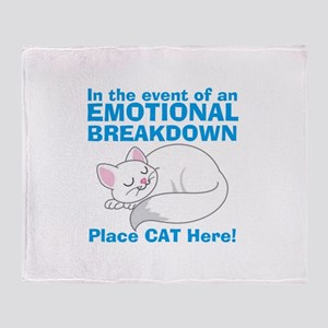 In the event of Emotional Breakdown Cat Throw Blan