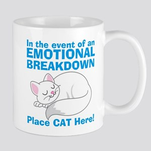 In the event of Emotional Breakdown Cat Mug