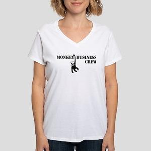 Monkey Business Women's V-Neck T-Shirt