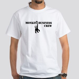 Monkey Business White T-Shirt
