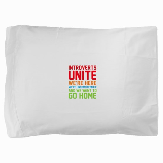 Cute Antisocial Pillow Sham