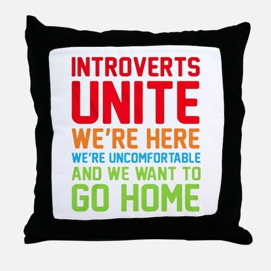 Cute Antisocial Throw Pillow
