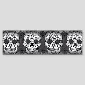 New Skull allover pattern Bumper Sticker