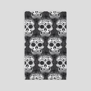 New Skull allover pattern Area Rug