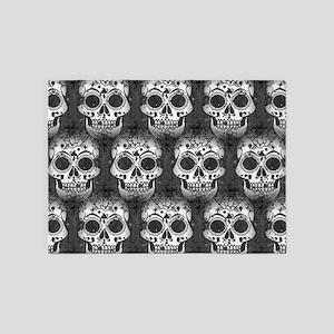 New Skull allover pattern 5'x7'Area Rug