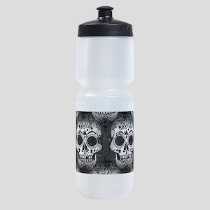 New Skull allover pattern Sports Bottle
