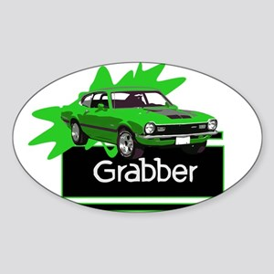 Grabber Green Maverick Oval Sticker