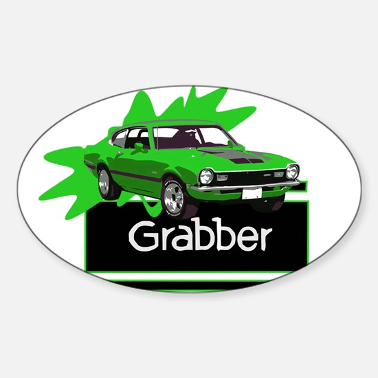 Grabber Green Maverick Oval Decal