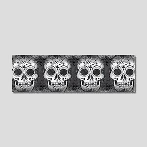 New Skull allover pattern Car Magnet 10 x 3
