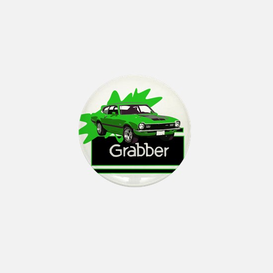 Grabber Green Maverick Mini Button