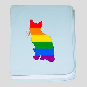 Rainbow Cat baby blanket
