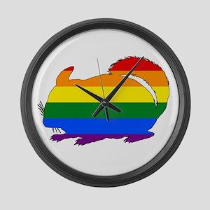 Rainbow Chinchilla Large Wall Clock