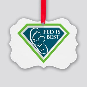 Fed is Best Shield Ornament