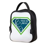 Fed is Best Shield Neoprene Lunch Bag