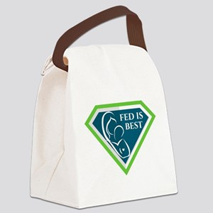 Fed is Best Shield Canvas Lunch Bag