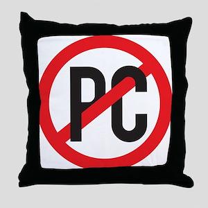 Anti PC Throw Pillow