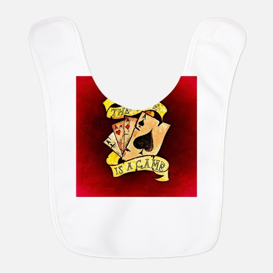 Life Is A Game (Red) Polyester Baby Bib