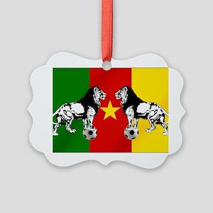 Cameroon Football Flag Ornament