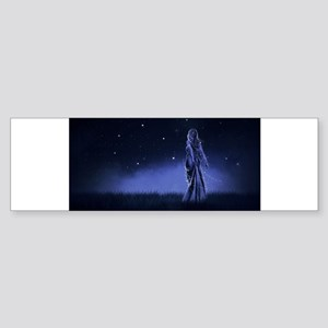 Woman Beneath the Stars Bumper Sticker
