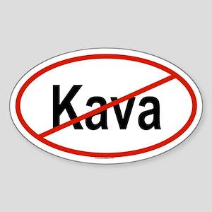 KAVA Oval Sticker