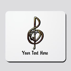 Music Treble Clef Embossed Look Customiz Mousepad