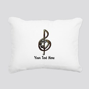 Music Treble Clef Emboss Rectangular Canvas Pillow