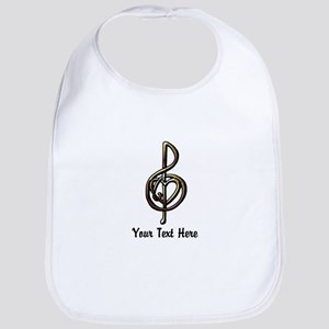 Treble Clef and Heart To Personalize for Music Bib