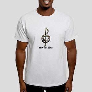Music Treble Clef Embossed Look Cust Light T-Shirt