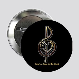 """Personalized Music Treble Clef Metall 2.25"""" Button"""