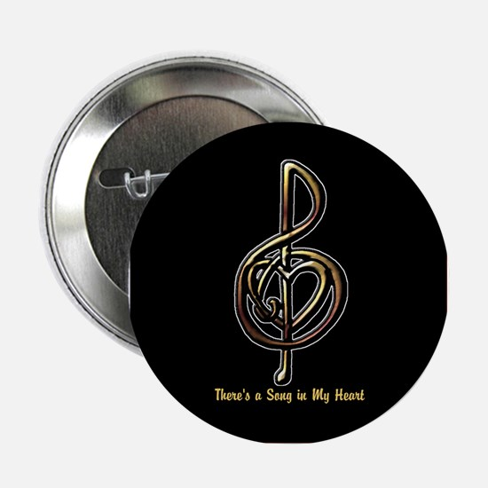 "Personalized Music Treble Clef Metall 2.25"" Button"
