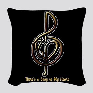 Customized Music Treble Clef a Woven Throw Pillow